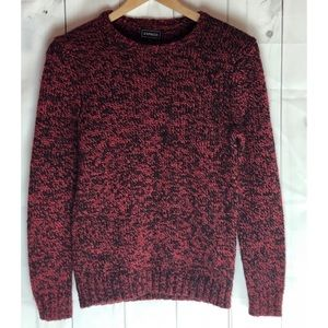 Express Red and Black Petite Knit Sweater Size SP